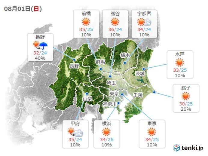 気温ぐんぐん上昇 内陸部では猛暑日の所も