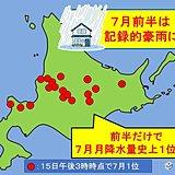 北海道 前半だけで7月1位続出