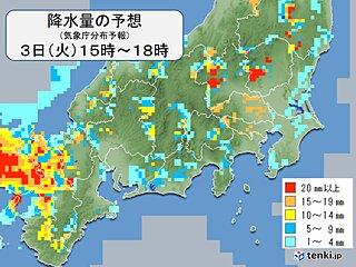 関東 朝は東京都心でも本降りの雨 夜のはじめ頃にかけて急な雨や雷雨に注意