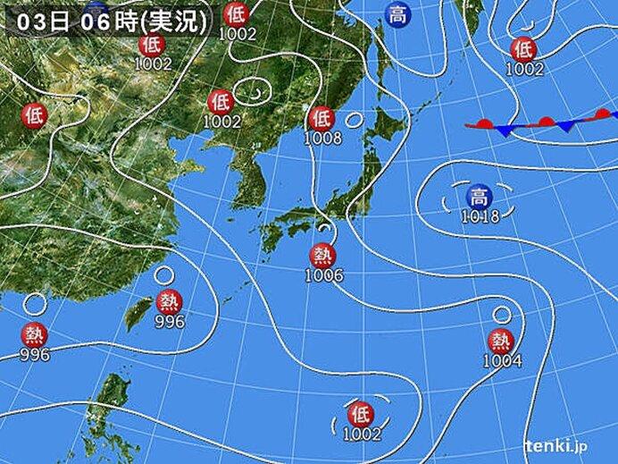 台風シーズン 熱帯低気圧が複数発生中