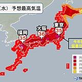 4日(水)も広く熱中症警戒アラート発表 関東さらに暑く 東京都心も今年初の猛暑日