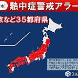 5日 35都府県に熱中症警戒アラート 熱中症に厳重警戒
