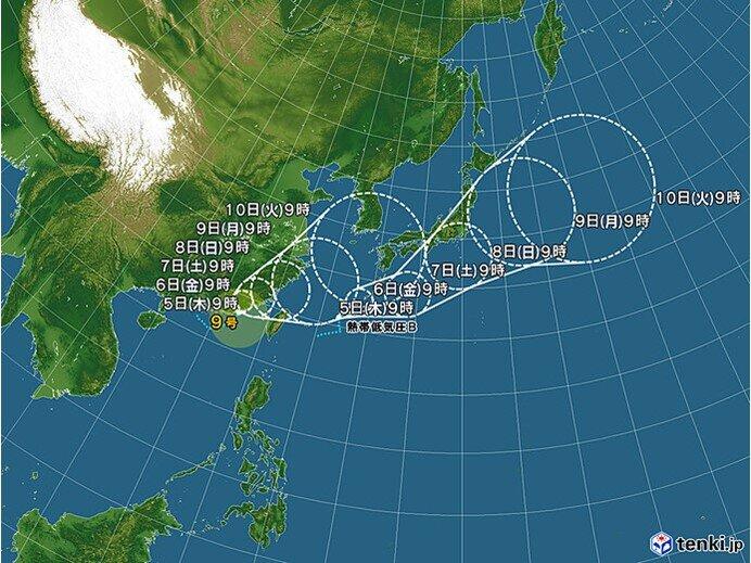 台風9号 新たな台風も発生へ 3連休にかけ日本付近へ影響