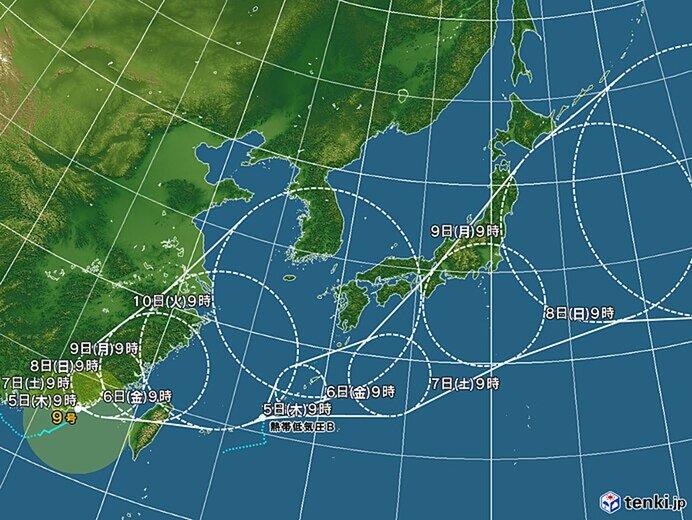 台風と熱帯低気圧の動向