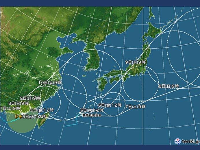 東海地方 台風の影響 山間部中心大雨のおそれ