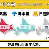 北海道の1か月予報 暦は秋に入るが、厳しい暑さが続く