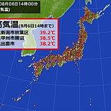 最高気温 体温超えの39℃台も 東京都心は今年1番の暑さ 夜間の熱中症にも警戒