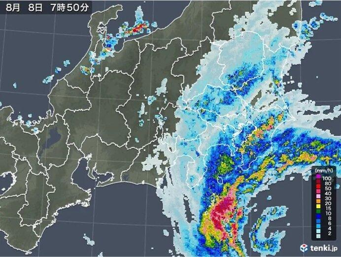 関東 台風10号接近中 昼前にかけても所々で激しい雨 あす9日も局地的に雨雲発達