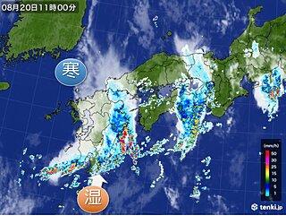 九州 大気不安定 週末にかけても激しい雨に警戒