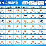 2週間天気 あす25日は東北で大雨 26日以降 東海などで猛烈な暑さ 熱中症警戒
