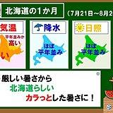 北海道の1か月 暑い日が多い