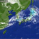 25日 日本海側で大雨 土砂災害に厳重警戒 愛知など8県に熱中症警戒アラート