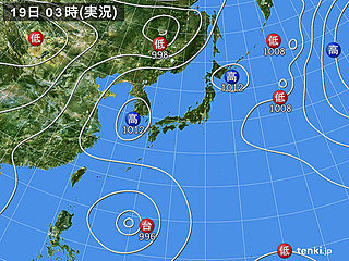 19日 猛暑収まらず 台風10号が北上