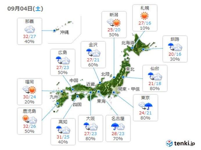 最高気温 関東など10月並みの肌寒さ続く