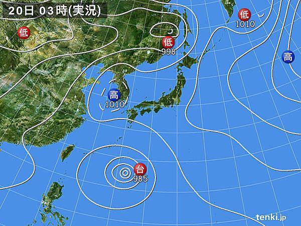 20日も猛暑続く 台風10号は沖縄付近へ