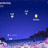 今夜も 月が土星や木星に接近 見られる所は? 台風が近づく前に夜空を見上げてみて