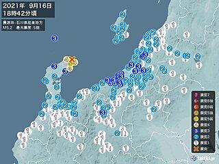 石川県で震度5弱の地震 津波の心配なし