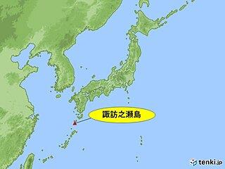 諏訪之瀬島(御岳)で噴火が発生