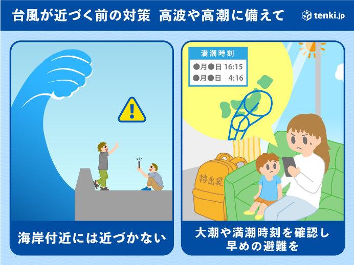 西日本を中心に 暴風・高波・高潮に警戒