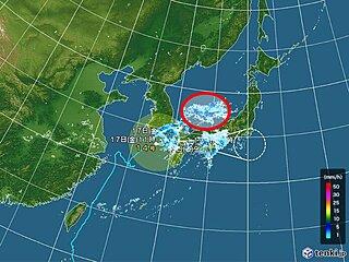 進路予想図にだまされないで 台風北側に低気圧発生 東北も大雨に