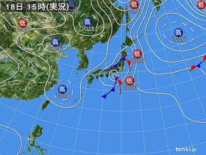 台風は温帯低気圧に