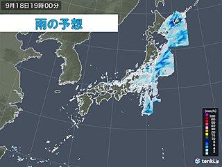 低気圧や前線が通過中 今夜にかけ北日本中心に大雨警戒 すでに平年の2倍の雨量も