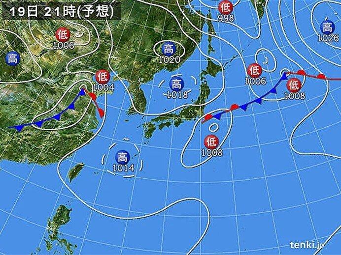 広く秋晴れ 東海など一部でにわか雨