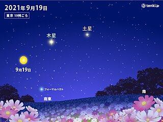 今日19日(日)まで月が土星・木星に接近 見られる所は?