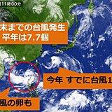 台風の発生数 平年より多い
