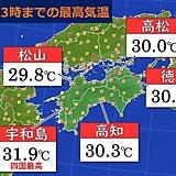 きょうも真夏日の四国地方 残暑いつまで?