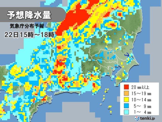 次第に雨雲は東へ 東海や北陸などで激しい雨に
