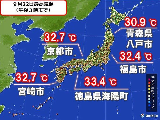 各地で真夏日 南風で、関東は夜も蒸し暑い
