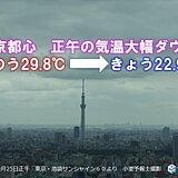 関東 各地で気温大幅ダウン 今夜は朝よりヒンヤリしそう 体調管理に注意