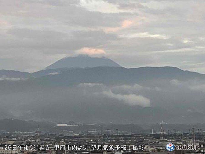富士山で「初冠雪」改めて発表 全国で今シーズン初