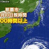 沖縄 晴れの日多い9月に 那覇市の日照時間の合計200時間以上 6年ぶり
