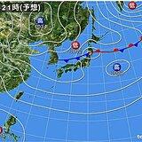 5日も 夏の空気が優勢 一方 北からは秋の空気 東北付近では雨雲が発達