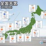 あす6日も関東から九州は晴天と暑さ 東北や北海道は傘と上着が必要