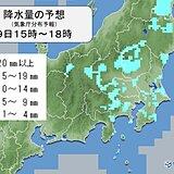 東北南部や関東 所々に雨雲 午後もにわか雨に注意