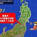 観測史上最多 東北も経験ない猛暑