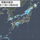 前線に伴う雨雲が北日本を南下中 四国にも活発な雨雲 午後は雨のエリア広がる