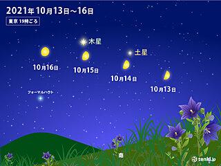 天体ショー! 今夜とあすの夜 月が土星・木星に接近 にぎやかな夜空に