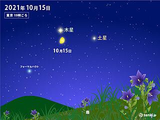 今夜 月が木星・土星に接近 天気はどうなる?