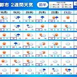 「2週間天気」秋深まる 気温低下 関東以西もヒンヤリ 週中頃は北海道で荒天の恐れ