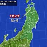 青森県八甲田山系の酸ヶ湯で積雪 今週半ば頃はまた寒気流入