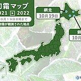旭川と釧路 初霜と初氷を観測