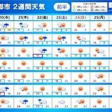 2週間天気 肌寒さは週末から一度は解消へ