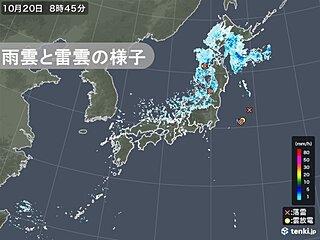 北陸で激しい雨を観測 北海道・東北の日本海側・北陸では局地的に大雨の恐れ