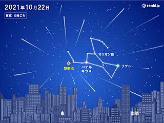 あす21日 オリオン座流星群の活動がピーク 秋の夜長の天体ショー楽しめる所は?
