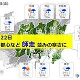 22日の東京都心 10月なのに「師走並み」の寒さ コートの準備は今夜のうちに