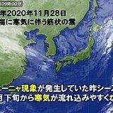 ラニーニャ現象 12月をピークに予想される 寒さの見通し